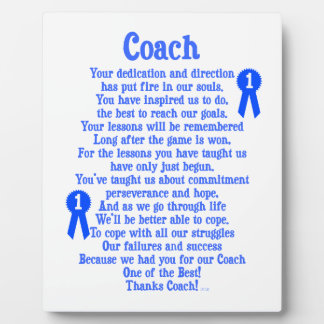 Coach Thank You Plaque
