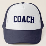 """COACH Trucker Hat {Navy Blue}<br><div class=""""desc"""">The perfect gift for your coach!</div>"""
