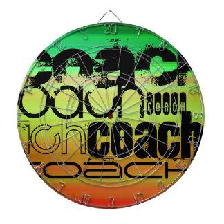 Coach; Vibrant Green, Orange, & Yellow Dartboard