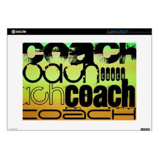 Coach; Vibrant Green, Orange, & Yellow Laptop Decal