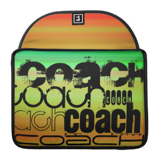 Coach; Vibrant Green, Orange, & Yellow Sleeve For MacBooks