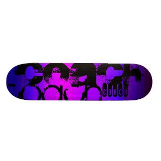 Coach; Vibrant Violet Blue and Magenta Skateboard Deck