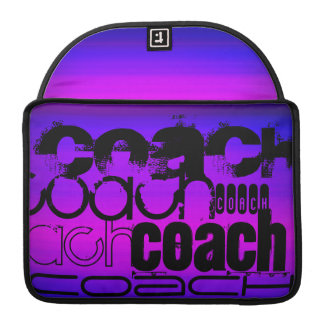 Coach; Vibrant Violet Blue and Magenta Sleeve For MacBook Pro