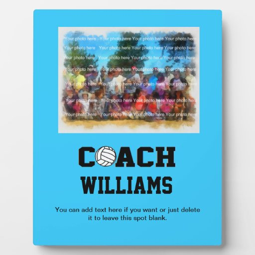Coach - Volleyball (8 x 10 photo plaque)