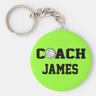 Coach - Volleyball- Personalized Keychains