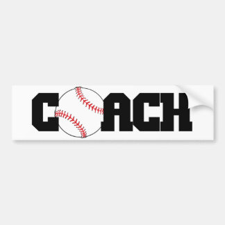 Coach with Baseball as the O Bumper Sticker