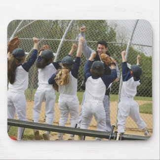 Coach with baseball team mousepad