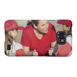 Coach with little league players samsung galaxy covers