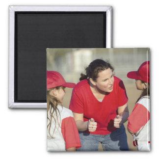 Coach with little league players fridge magnet
