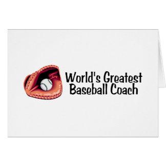 Coach Worlds Greatest Baseball Coach Greeting Cards