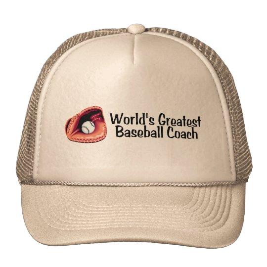 Coach Worlds Greatest Baseball Coach Trucker Hat