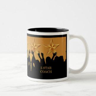 Coach Worlds Greatest Cheers 5 Star Gold Mug