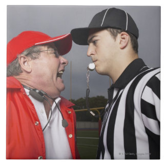 Coach Yelling at Referee Ceramic Tile