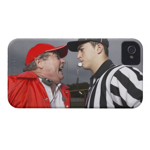 Coach Yelling at Referee iPhone 4 Covers