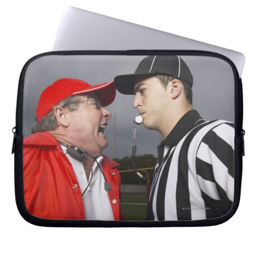 Coach Yelling at Referee Laptop Computer Sleeve