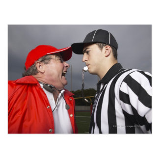 Coach Yelling at Referee Postcard