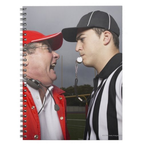 Coach Yelling at Referee Spiral Notebook