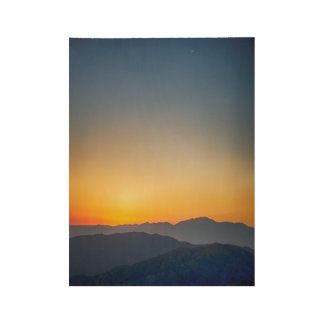 Coachella Valley Sunset Wood Poster