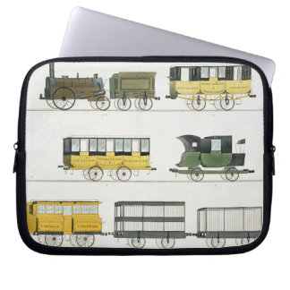 Coaches Employed on the Railway, plate 7 from 'Liv Laptop Sleeve