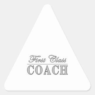 Coaches First Class Coach Triangle Sticker