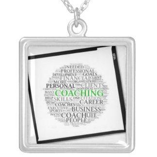 Coaching Framed Square Necklace #6 Black Frame