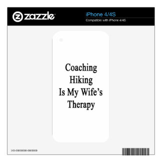 Coaching Hiking Is My Wife's Therapy Skins For iPhone 4