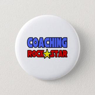 Coaching Rock Star Pinback Button