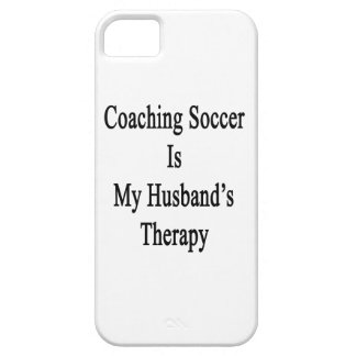 Coaching Soccer Is My Husband's Therapy iPhone 5 Cover