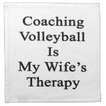 Coaching Volleyball Is My Wife's Therapy Napkins
