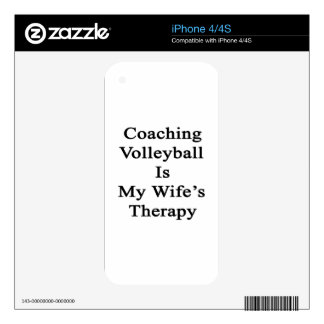 Coaching Volleyball Is My Wife's Therapy Decals For iPhone 4S