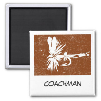 """""""Coachman"""" Fly Fishing Art Magnet"""