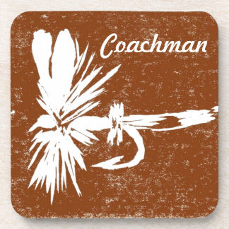 """""""Coachman on Brown"""" Wet Fly Coaster"""
