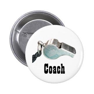 Coach's Whistle 2 Inch Round Button
