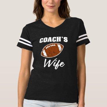 Beach Themed Coach's Wife womens Football Shirt