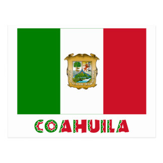 Coahuila Unofficial Flag Postcard