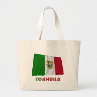 Coahuila Waving Unofficial Flag Canvas Bags