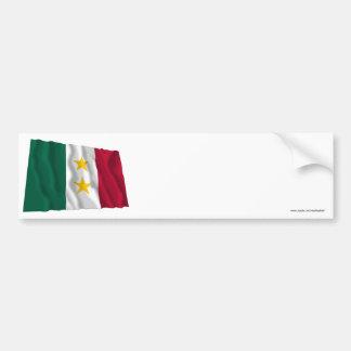 Coahuila y Tejas Flag Car Bumper Sticker