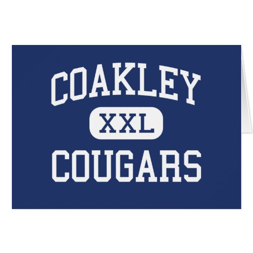 Coakley Cougars Middle Harlingen Texas Greeting Card