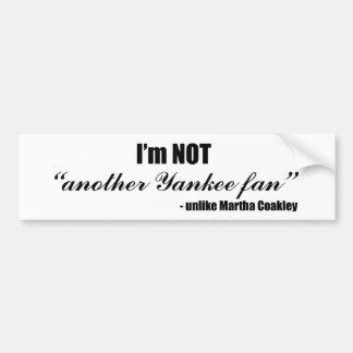 Coakley Yankee Fan Bumper Stickers