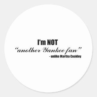 Coakley Yankee Fan Classic Round Sticker