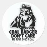 COAL BADGER STICKERS