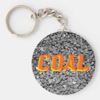 Coal Basic Round Button Keychain