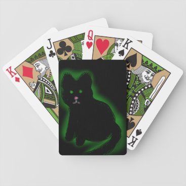 Halloween Themed Coal Beckons Bicycle Playing Cards