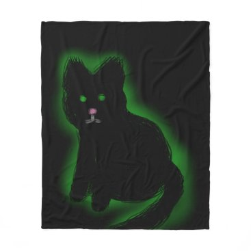 Halloween Themed Coal Beckons Fleece Blanket