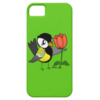 Coal bird with a flower iPhone SE/5/5s case