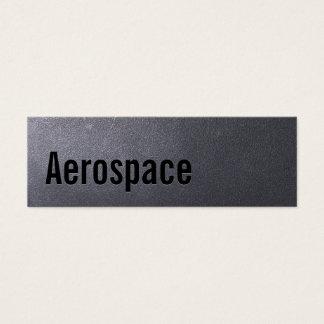 Coal Black Aerospace Engineer Mini Business Card
