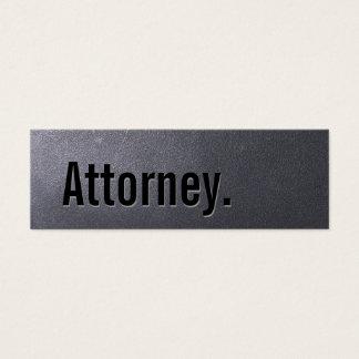 Coal Black Attorney Mini Business Card