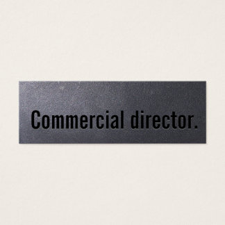 Coal Black Commercial Director Mini Business Card