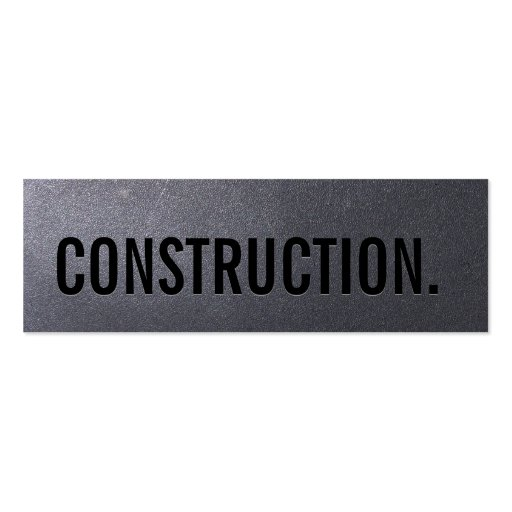 Coal Black Construction Mini Business Card
