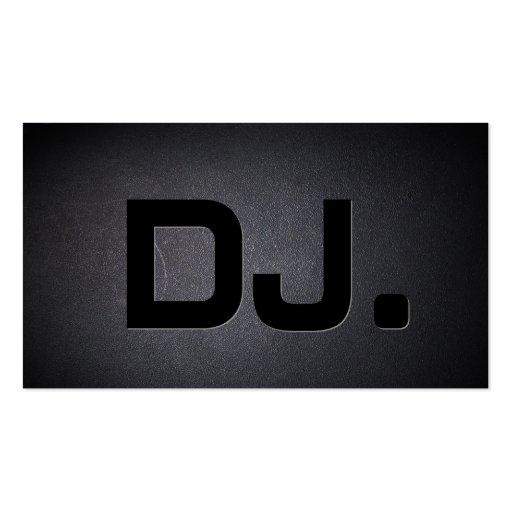 Coal Black Cool DJ Music Business Card